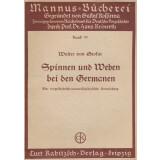 Spinnen und Weben bei den Germanen