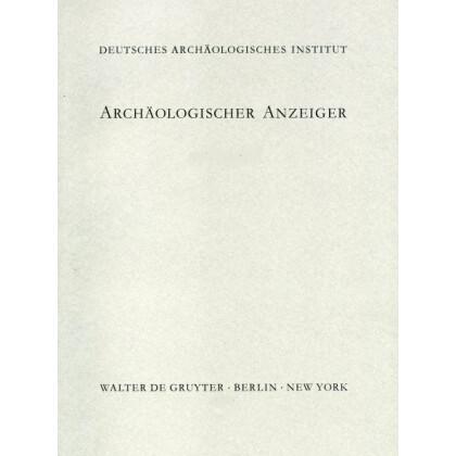 Archäologischer Anzeiger 1998 - Heft 1-4 komplett