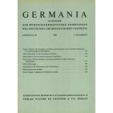 Germania Anzeiger der Römisch Germanischen...