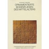 Ornamentierte Bodenfliesen des Mittelalters in Süd-...