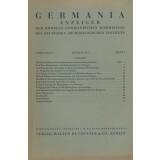Germania Anzeiger der römisch - germanischen...