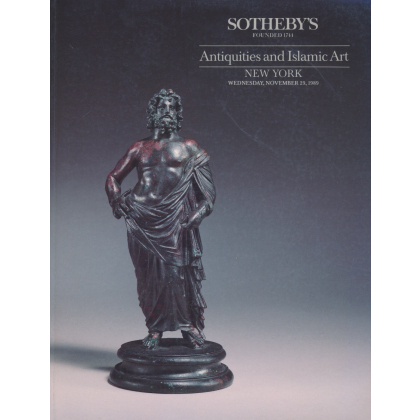 Sothebys Antiquities - New York - Wednesday 29 November, 1989 - Auction Catalogs