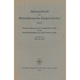 Jahresschrift für mitteldeutsche Vorgeschichte Band 36